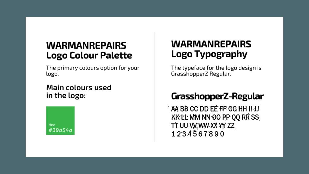 Warman Repairs Color Platte