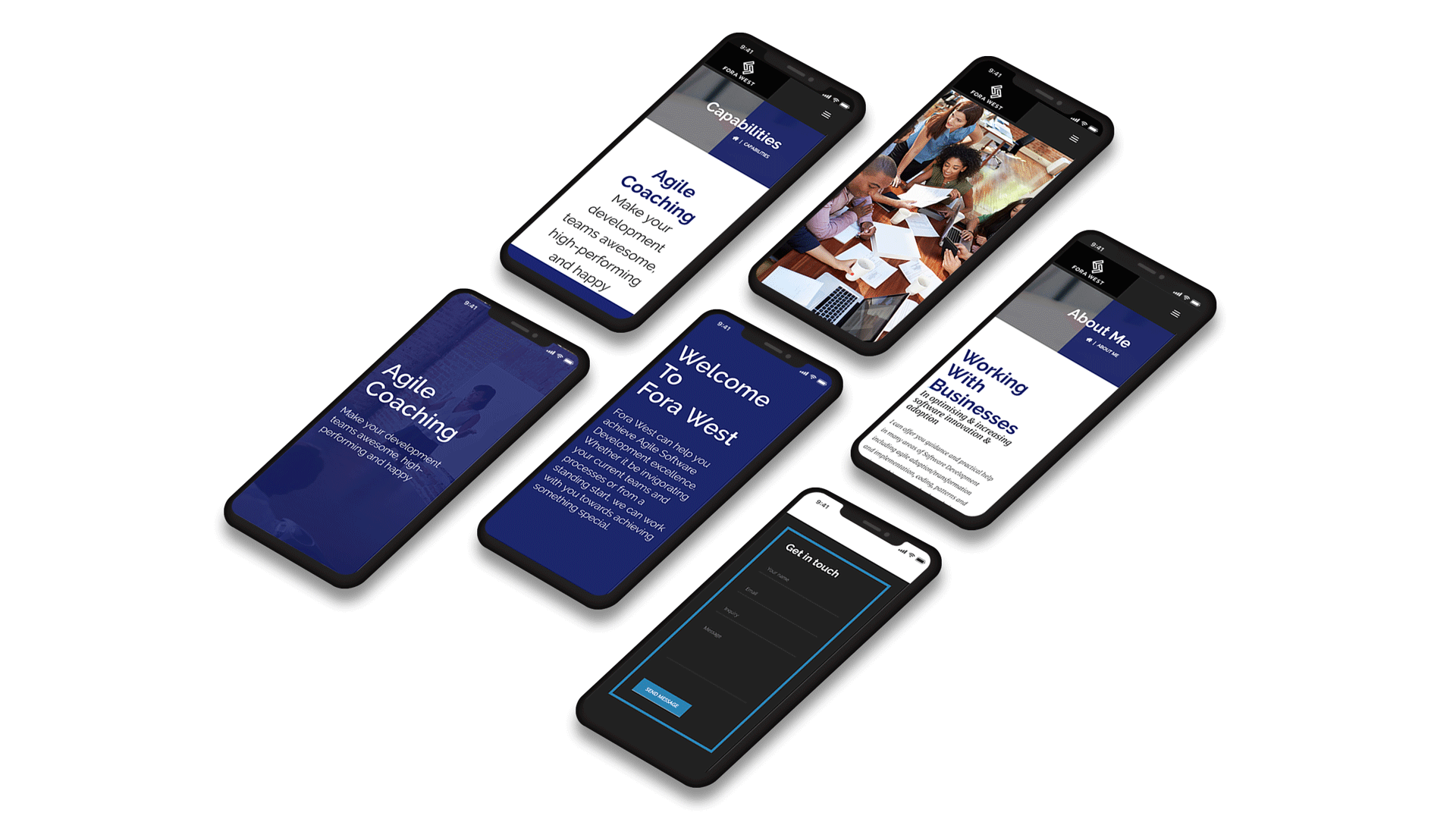 Fora-West Website Isometric Design White Mobile Website Isometric Design