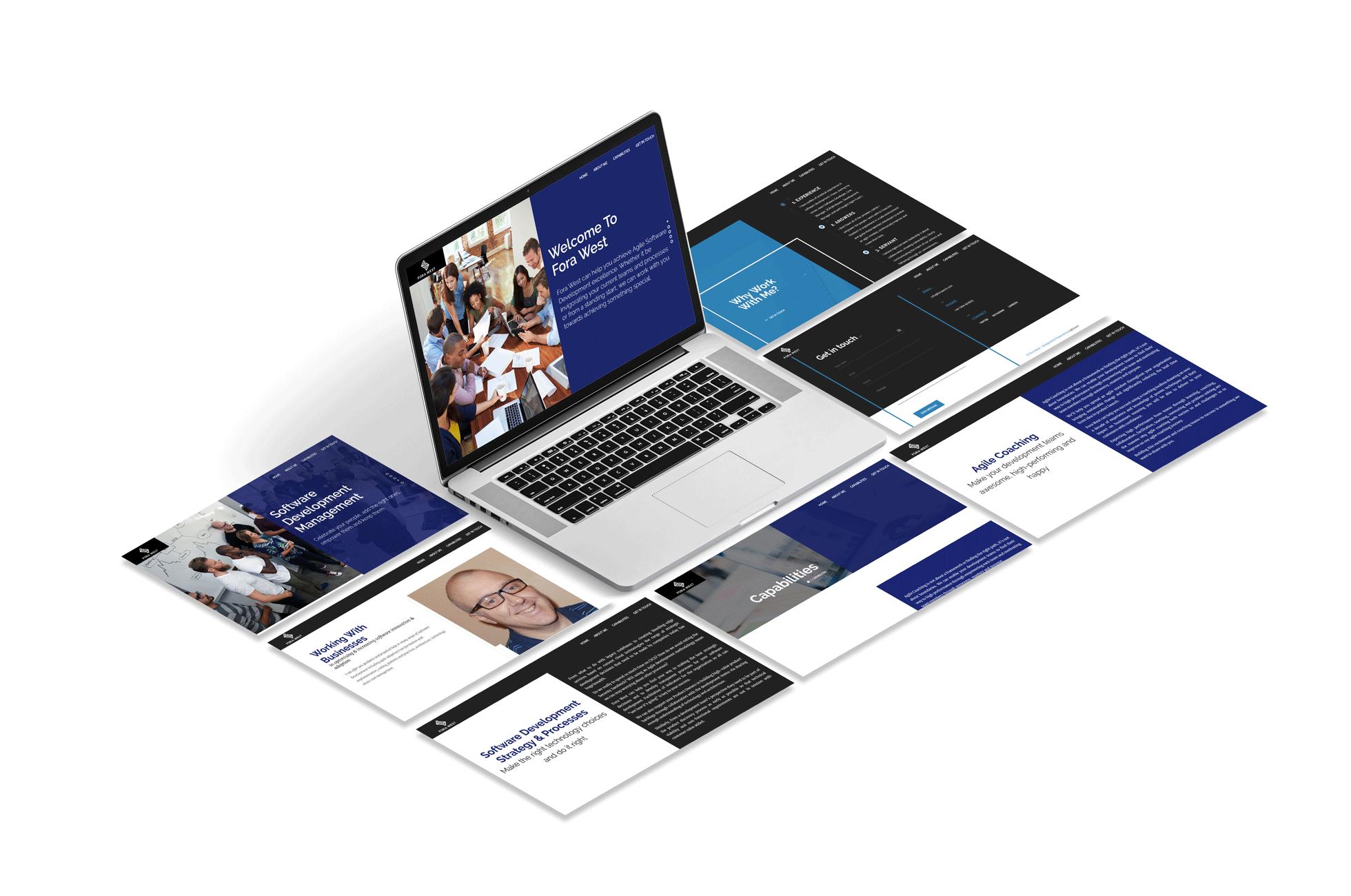Fora-West Website Isometric Design White