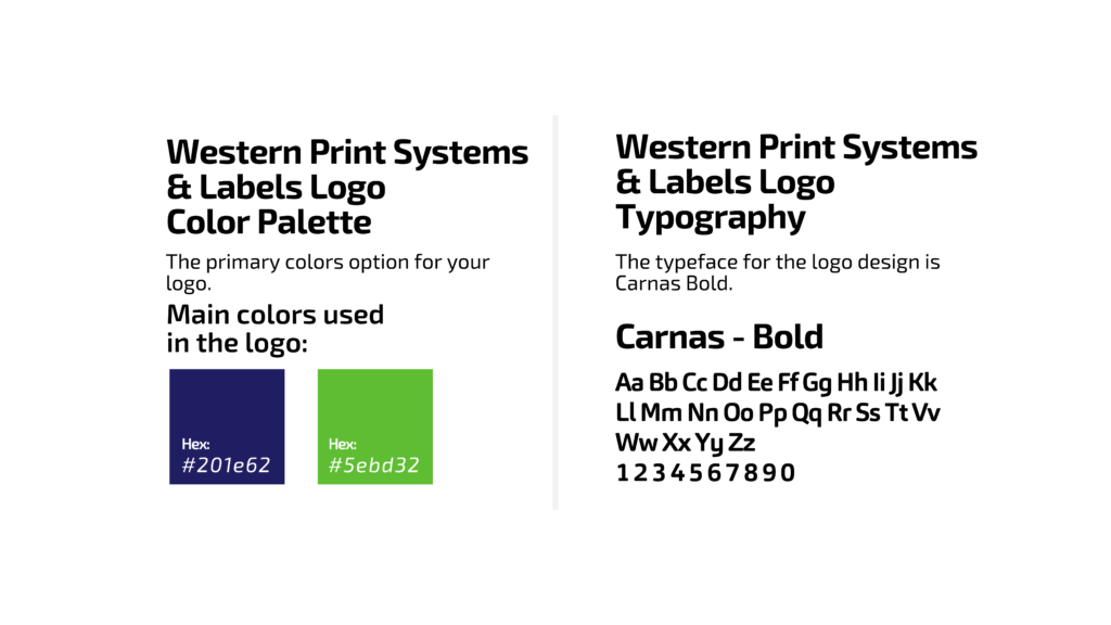 Western Print Systems Color Platte