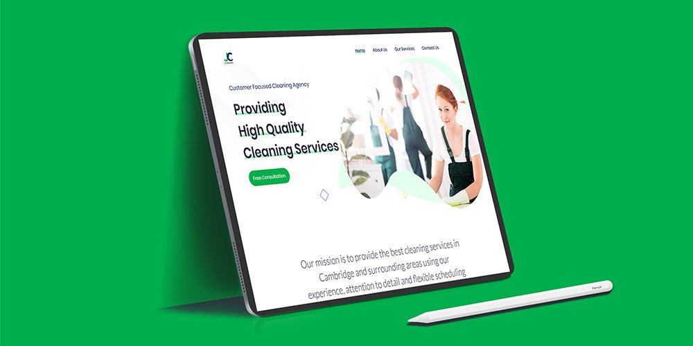 J Cleaners Website Design