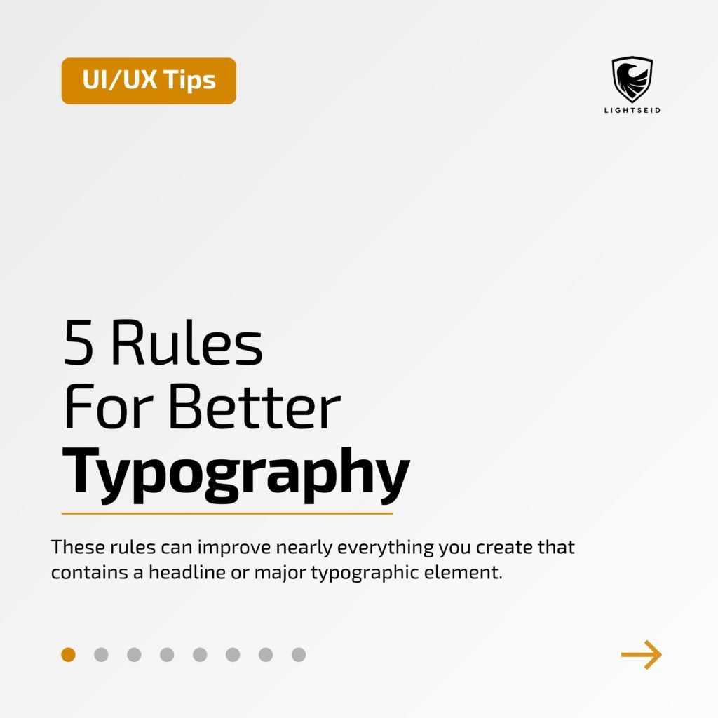 5 Rules For Better Typography
