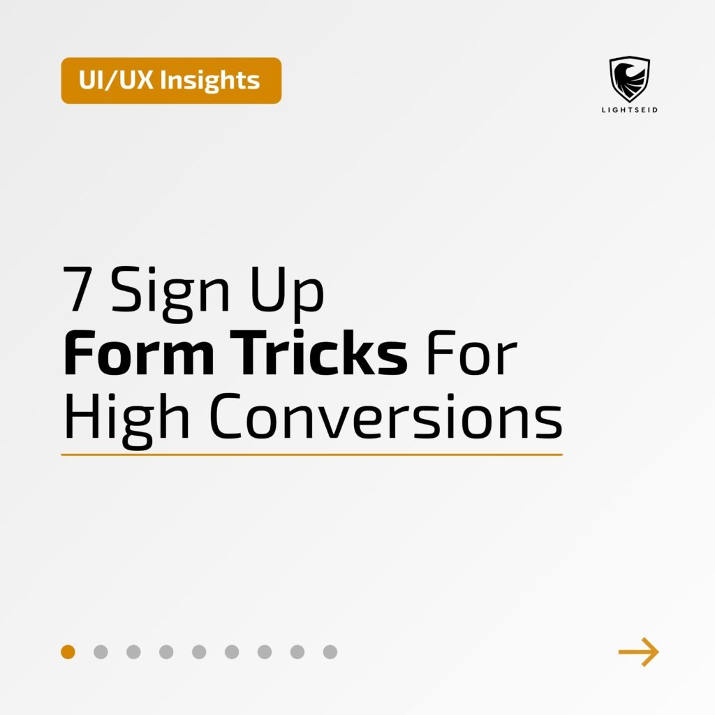 7 Sign Up Form Tricks For High Conversions