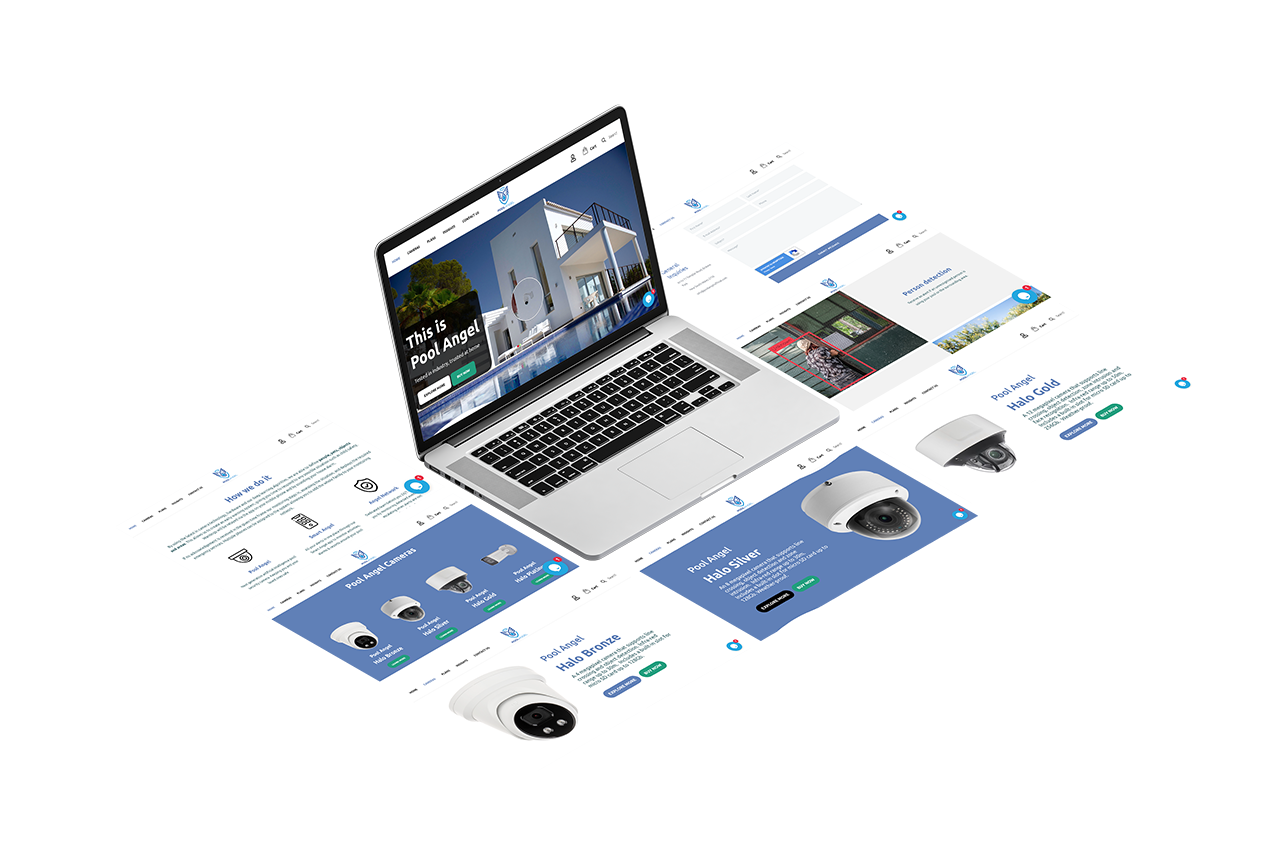 Angel Pool Website Isometric Design