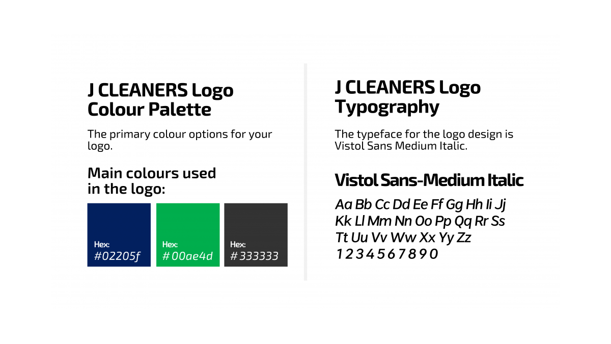J Cleaners Color Platte