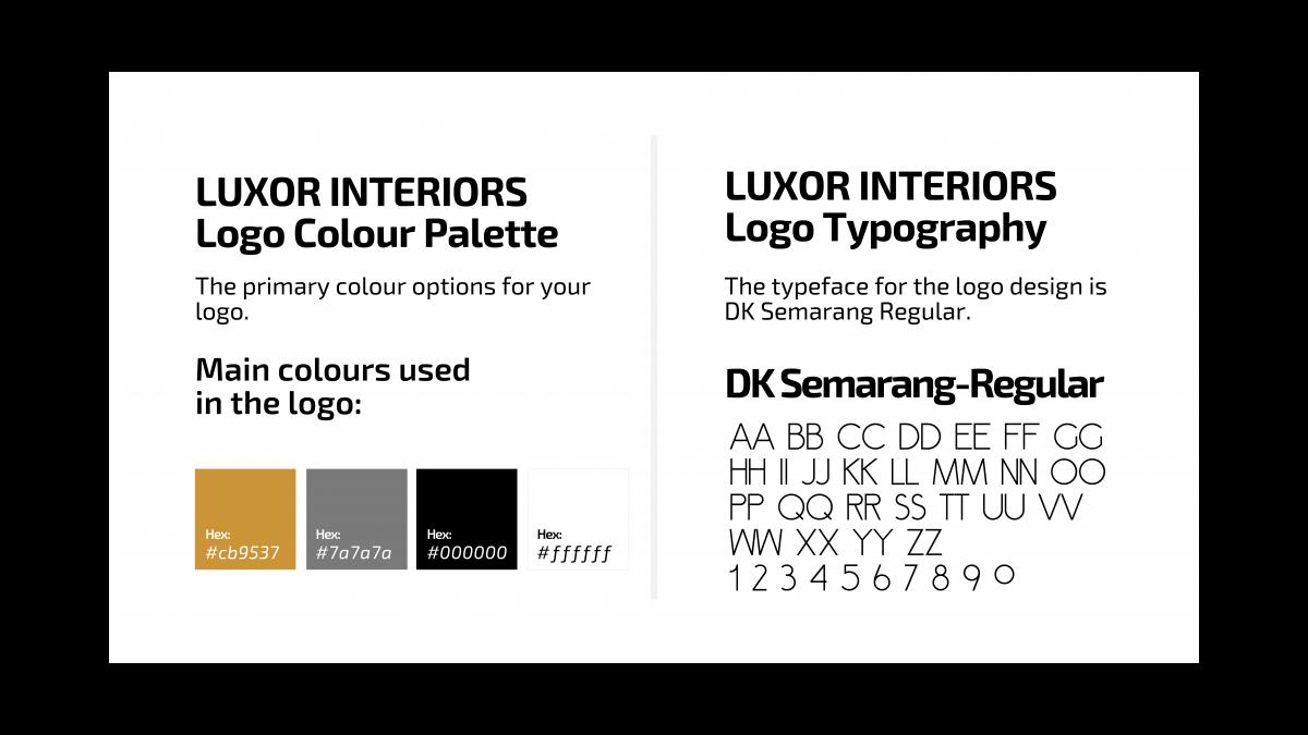 Luxor Interiors Color Platte