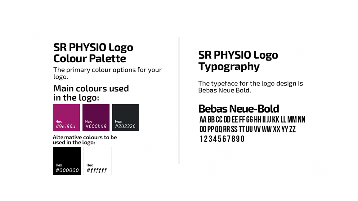 SR Physio Colors and Fonts